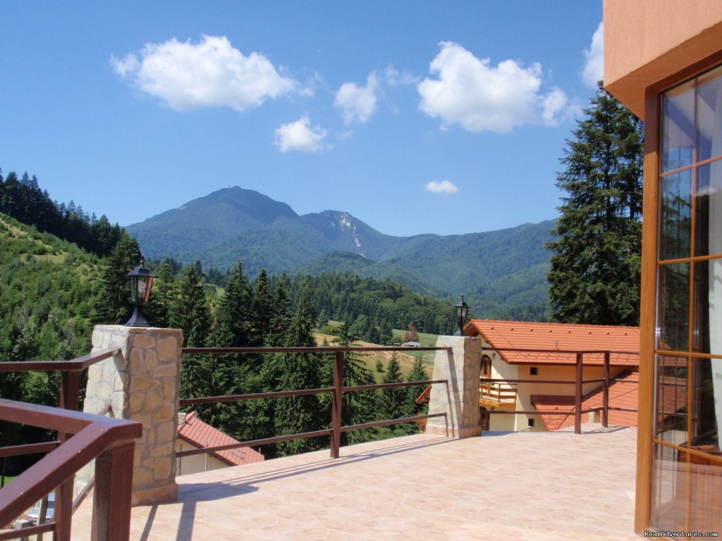 Mountain view from main terrace | Image #3/23 | Villa Casa Olandeza Brasov mountain holiday house