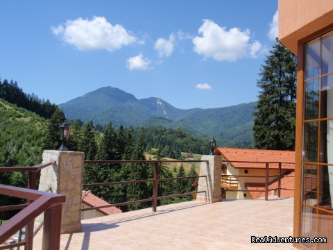 Mountain view from main terrace - Villa Casa Olandeza Brasov mountain holiday house