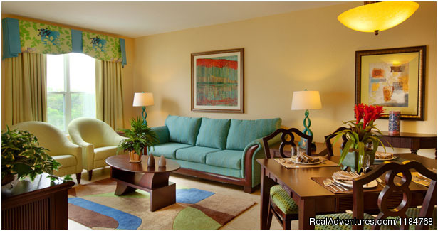 Suite Living / Dining Area - Disney World and Universal Studios Promotion