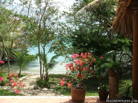 View of Cove from the Terraza - Romantic Tropical Getaway,Casa Estrella de Bacalar