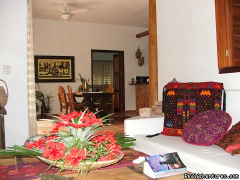 From Living Room - Romantic Tropical Getaway,Casa Estrella de Bacalar