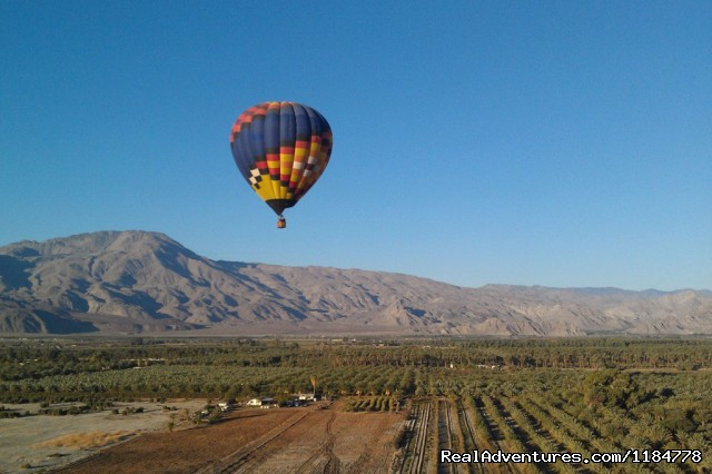 Balloons Above floats over the Coachella Valley - Hot Air Balloon Flights over Palm Springs