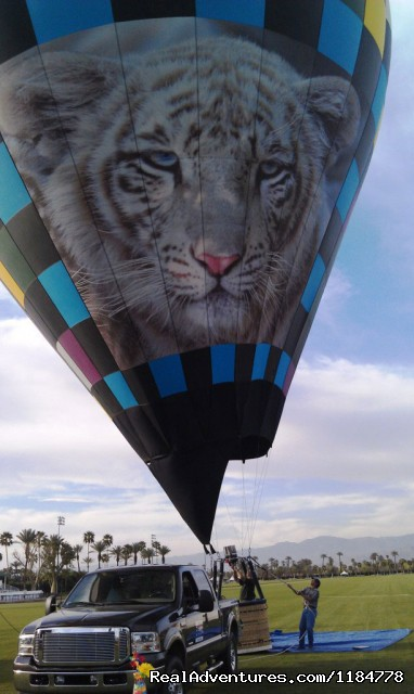 View Polo Fields from our Hot Air Balloons - Hot Air Balloon Flights over Palm Springs