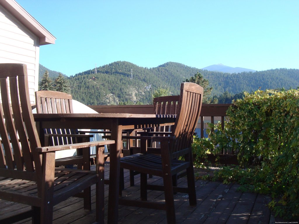 Big Deck In The Back With A Bbq Grill | Image #2/24 | Mt Evans Cabin, Hot Springs & Historic Town