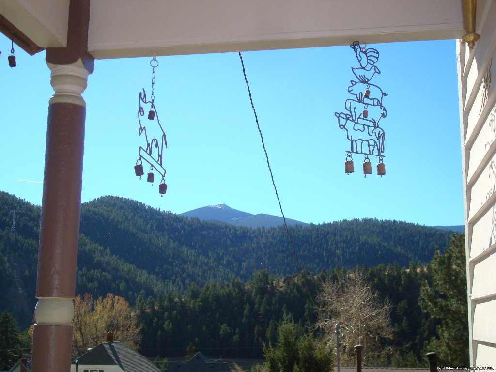 A View From The Front Porch | Image #9/24 | Mt Evans Cabin, Hot Springs & Historic Town