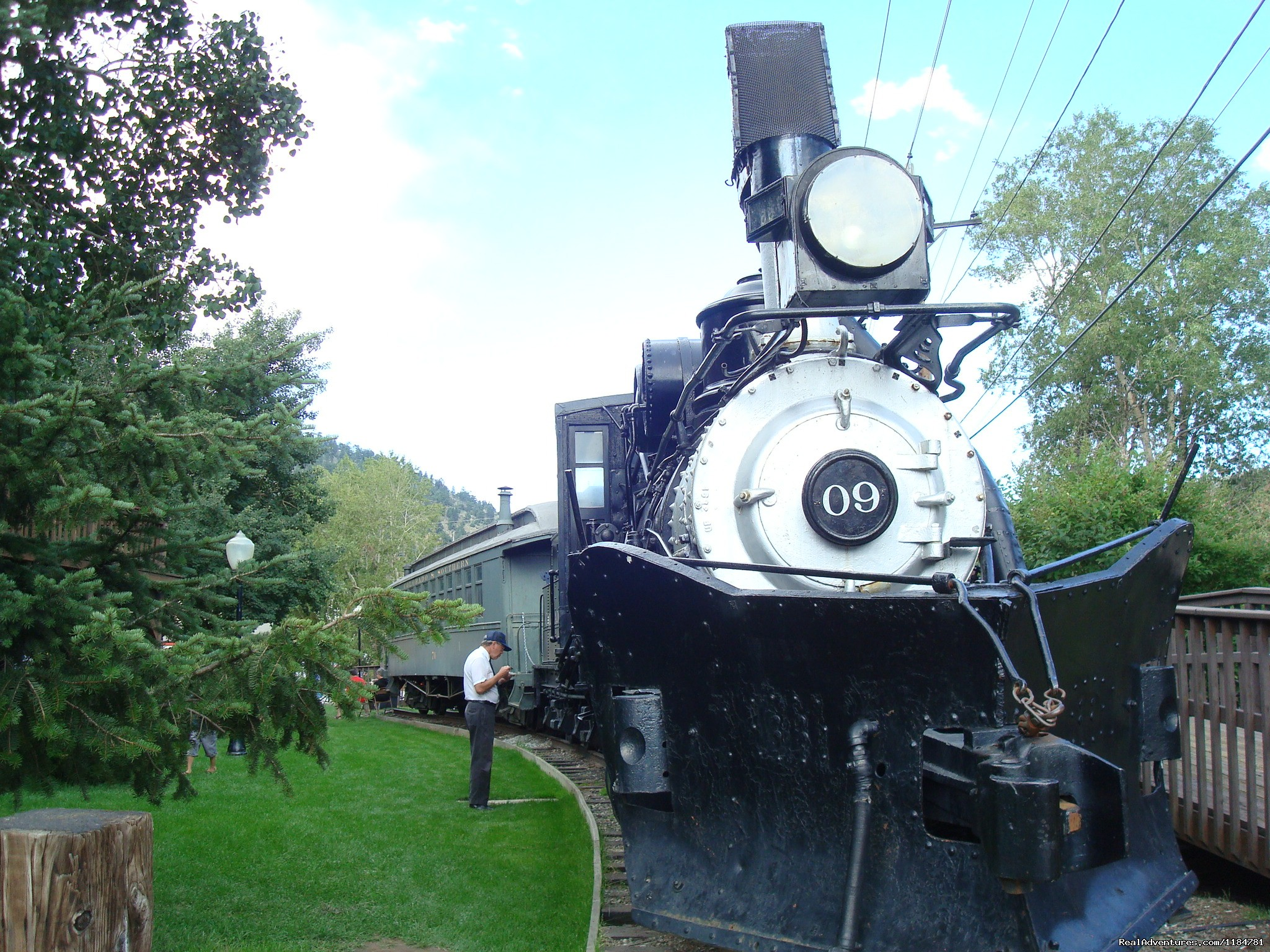 Old Historic Train In Idaho Springs