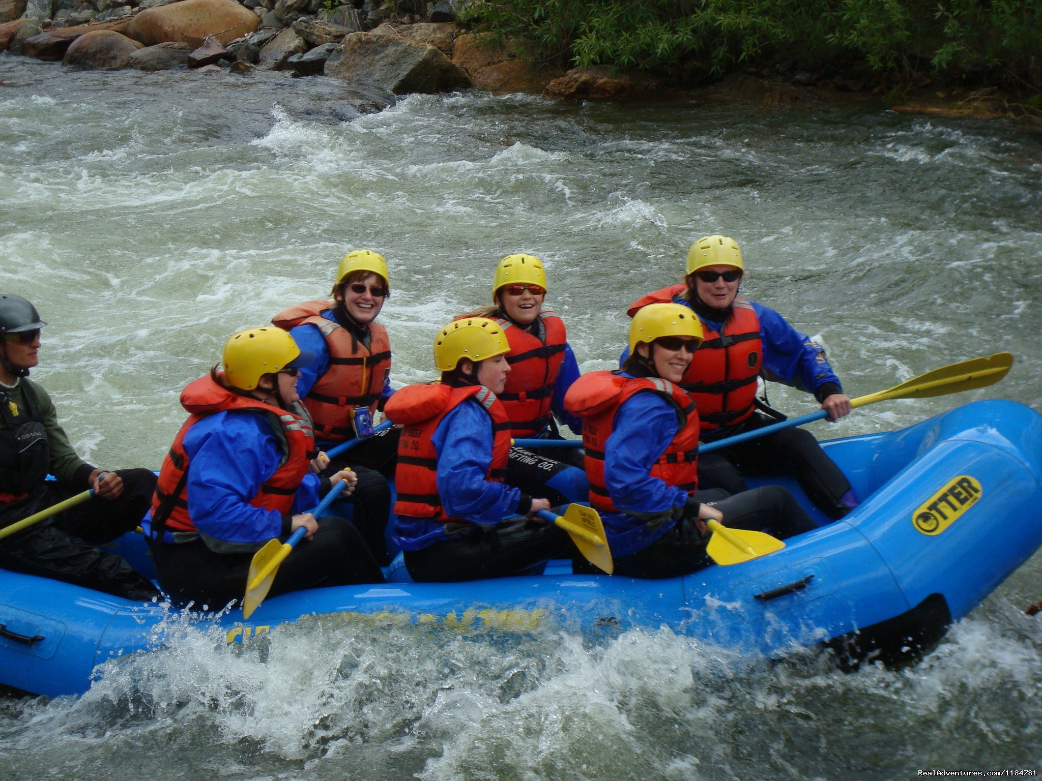 Great White Water Rafting On Clear Creek