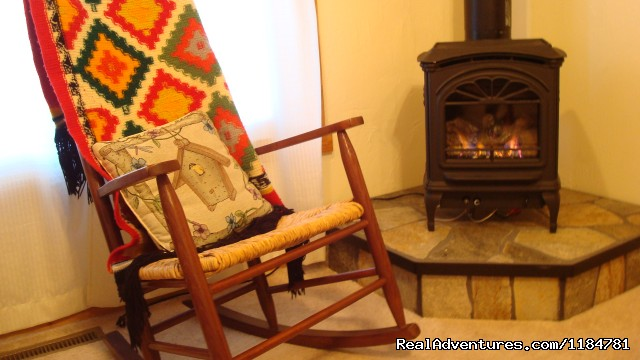 Cozy Up By The Fire In The Living Room - Mt Evans Cabin, Hot Springs & Historic Town