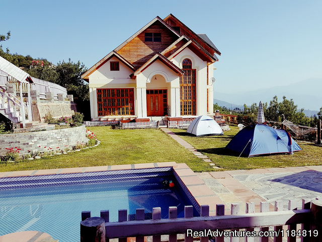 Pool Tent and the Bungalow - Dwarika Residency shelapani shimla hills