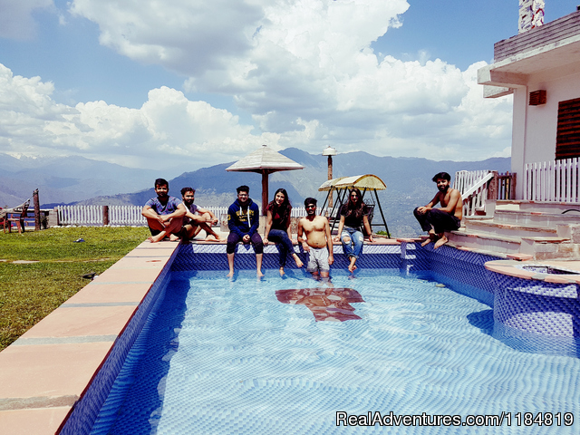 Guests at the Pool - Dwarika Residency shelapani shimla hills