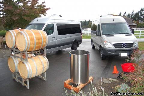 Adventure vans at Winery - Authentic NW Nature, Wildlife, Wine & Active tours