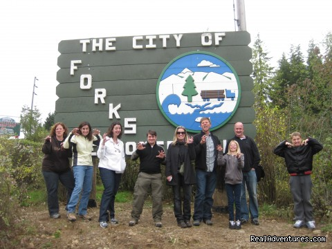 A Stop at Forks on our Twilight, Rainforest, & Beaches Tour - Authentic NW Nature, Wildlife, Wine & Active tours