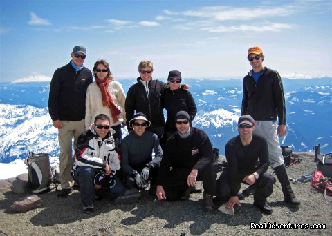 Enjoying the view from Camp Muir, Mt. Rainier - Authentic NW Nature, Wildlife, Wine & Active tours