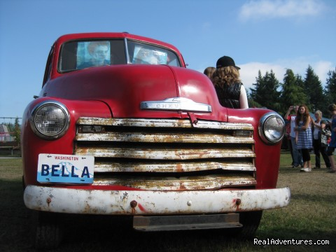 The Bella Truck from Twilight in Forks, WA - Authentic NW Nature, Wildlife, Wine & Active tours