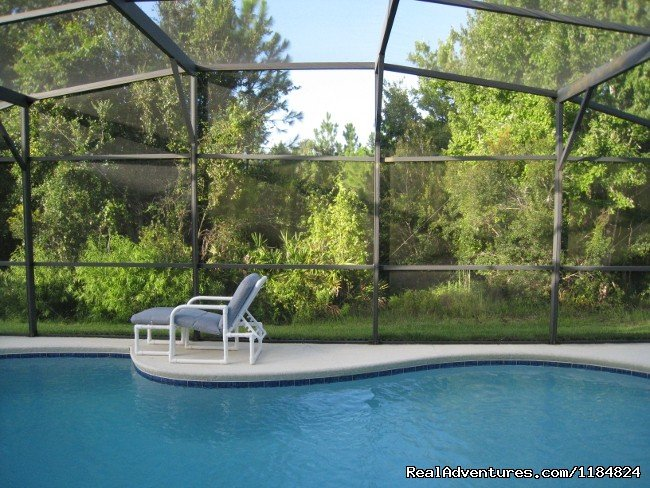 Pool backing onto conservation land - privacy