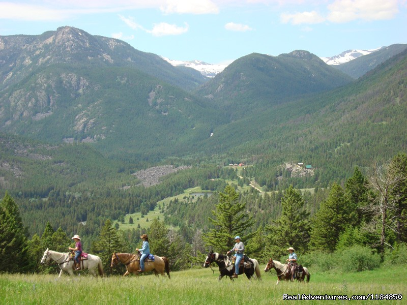 Horseback ride above Hawley Mountain Ranch | Image #4/18 | Hawley Mountain Guest Ranch Vacation