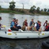Boat Float on the Yellowstone River