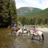 Riding across the Boulder River