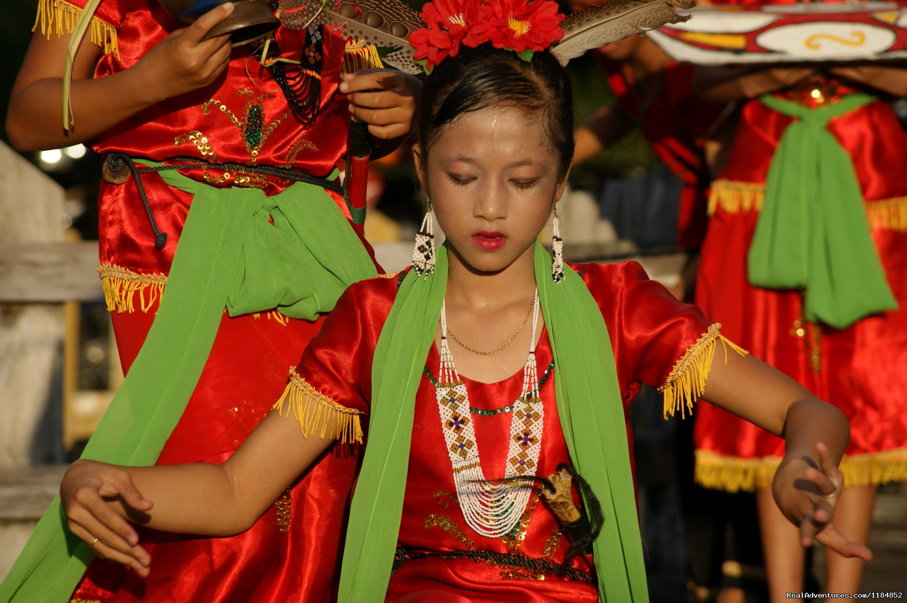 Traditional Dayak cultural peformances