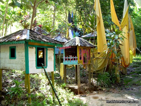 Patahu or homes for wandering spirits - Orangutan and Dayak Village Cruises