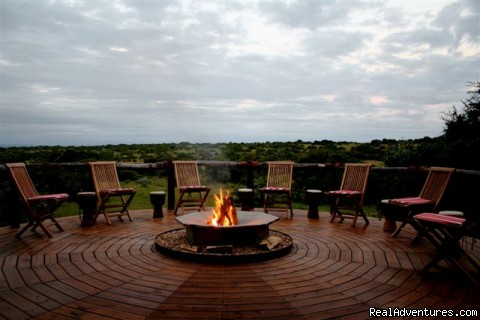 The Deck off the main building under the great african sky - The Bush Lodge