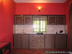kitchen front | Image #2/8 | Fully Furnished Apartment In Calangute, Goa