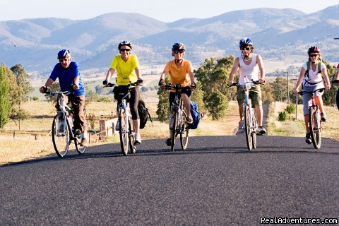 A happy cycling group - Cycling tours and holidays with Green Pedal Tours