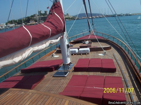 Deck - Sailing in Turkey with MEDSAIL HOLIDAYS