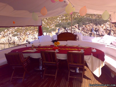 Aft Deck - Sailing in Turkey with MEDSAIL HOLIDAYS