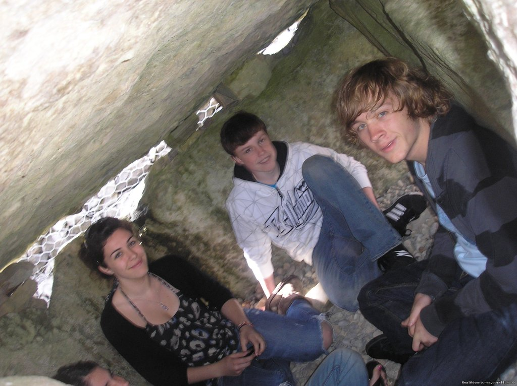 Sitting inside an Irish Passage Grave!  | Image #14/18 | Summer Camp in Ireland