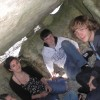 Sitting inside an Irish Passage Grave!