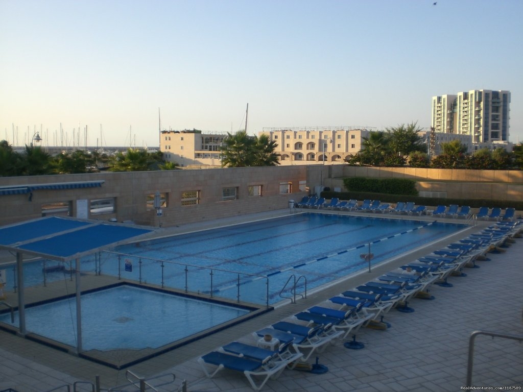 outdoor and spacious swimming pool