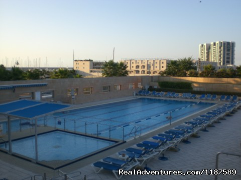 outdoor and spacious swimming pool  - Large  Apart 4 rooms OkeanosBamarina Garden access