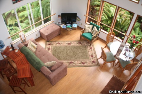 Kilauea RainForest Retreat : Overview Living Room