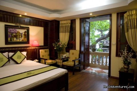 Deluxe Double with a balcony - Jasmine Garden Hotel-Hanoi Old Quarter