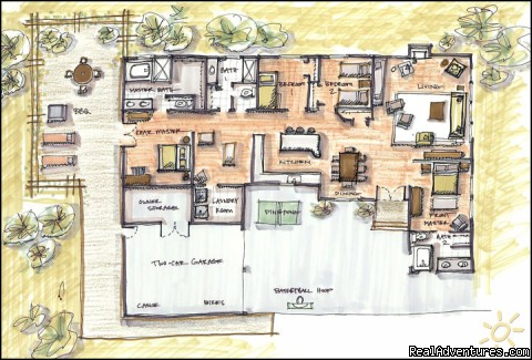 Totem House at Wapato Point, Lake Chelan: Floor Plans