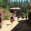 Guest playing in Devigiri Homestay