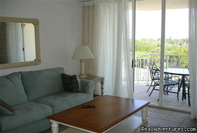 Living Room and Balcony - Beautiful 2 Bdr Key West Condo!