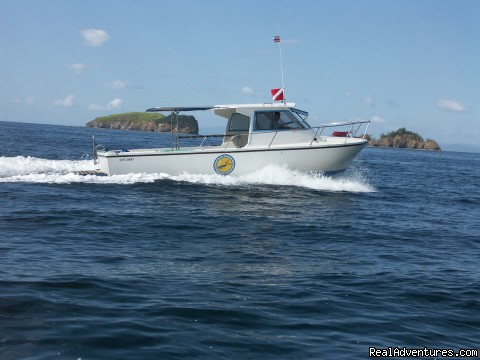 Top notch dive boat Lady Blue - Deep Blue Diving, Costa Rica, Playas del Coco