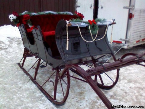 100 year old Santa Sleigh