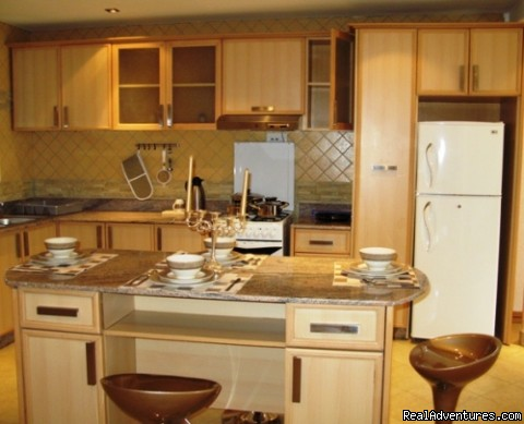 Fully fitted modern kitchen-furnished apartments kampala - Kampala furnished apartments & Uganda car hire 4x4