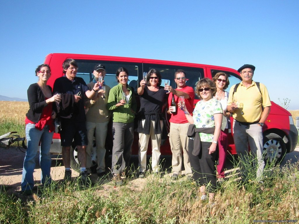 Toast with champagne after the flight | Image #11/11 | Hot-air Balloon Rides in Madrid & Segovia, Spain