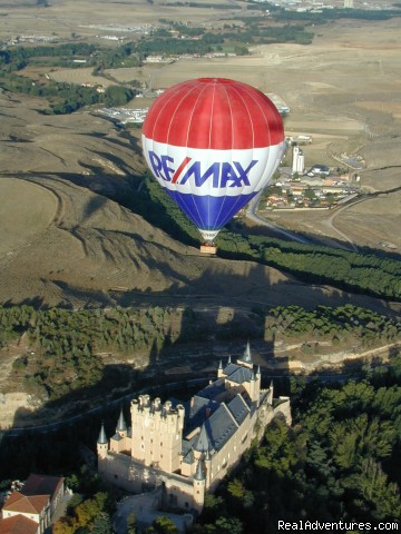 Flying over Segovia Old Town - Hot-air Balloon Rides in Madrid & Segovia, Spain
