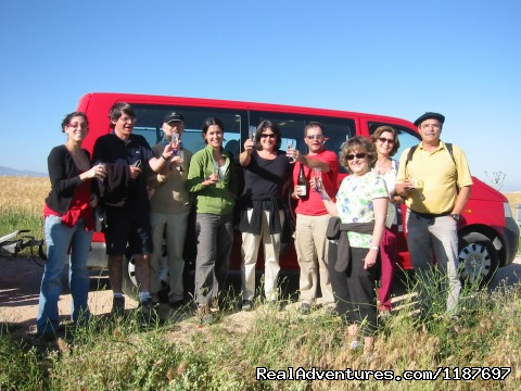 Toast with champagne after the flight - Hot-air Balloon Rides in Madrid & Segovia, Spain