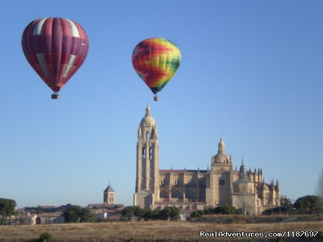 Taking off in Segovia - Hot-air Balloon Rides in Madrid & Segovia, Spain