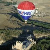 Flying over Segovia Old Town