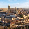 Segovia Old Town from the air