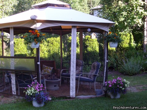 Wyndhaven Cottage B&B's Gazebo to enjoy! - Wyndhaven Cottage B&B; on route to Wells Gray Park