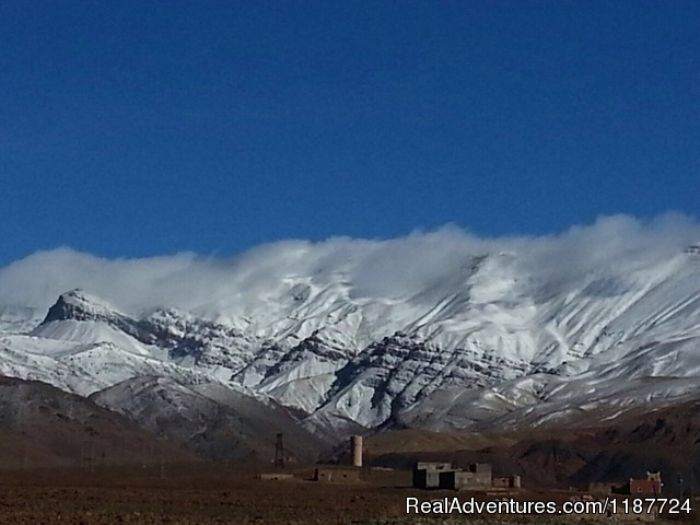 Atlas Mountains covered by snow - Your Morocco Tour
