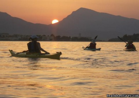 Evening paddle - Greece Sea Kayaking - Greek Island Adventure